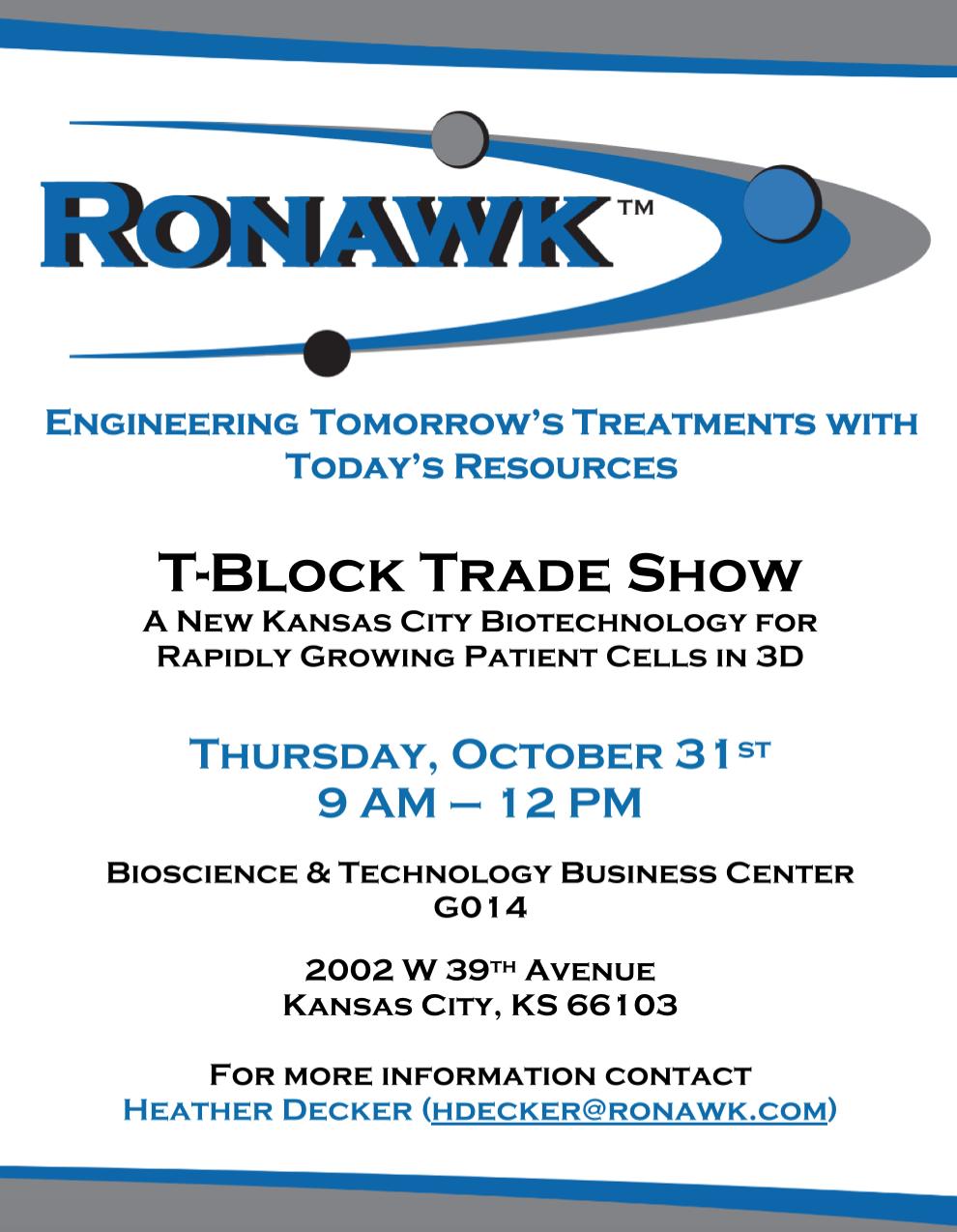 Ronawk host Q4 '19 T-Block Trade Show 19